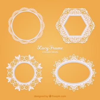 Различные декоративные рамки из кружева