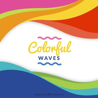 多色の波の背景