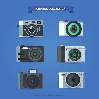 カメラコレクションフラットデザイン