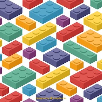 白い背景にある多色のブロック
