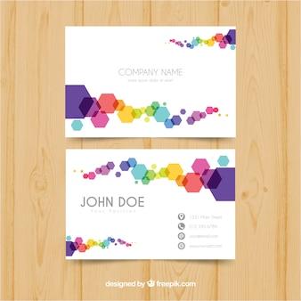 Красочная визитная карточка