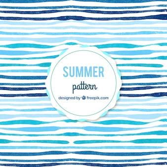 水彩画の抽象的な夏のパターンの背景