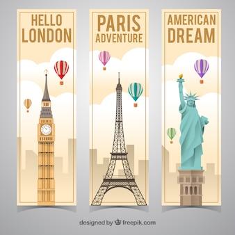 主要都市の旅行バナー