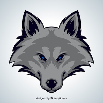 美しいオオカミの頭の背景