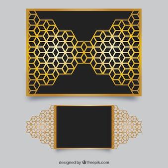 幾何学的なレーザーカット形状による招待