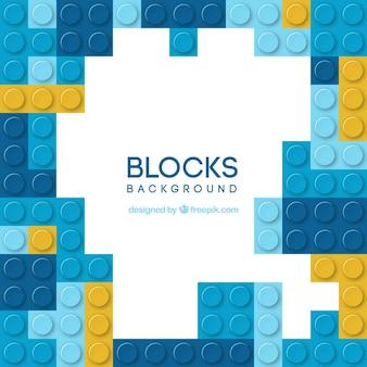 青いブロックの背景