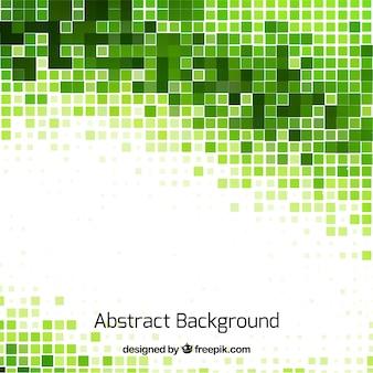緑のモザイクの抽象的な背景