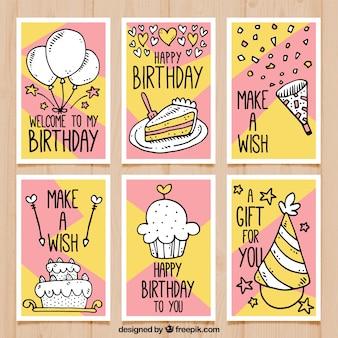 図面付き誕生日カード
