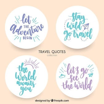 Декоративные наклейки с сообщениями о путешествиях