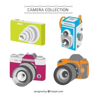 Коллекция перспективных камер с плоским дизайном
