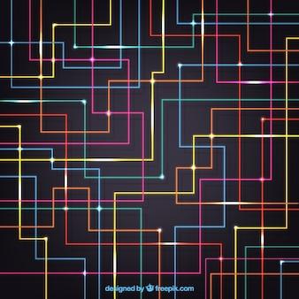 カラフルな回路の背景