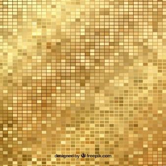 Золотой фон из ярких мозаик