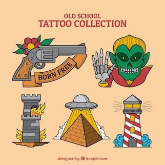 様々なタトゥーのパック