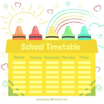黄色の学校の時刻表
