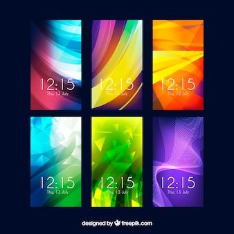 Красочные абстрактные обои для мобильного телефона