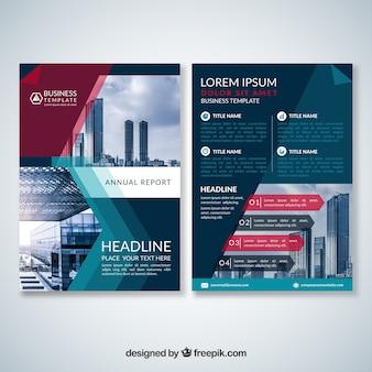 抽象的な近代ビジネスパンフレット
