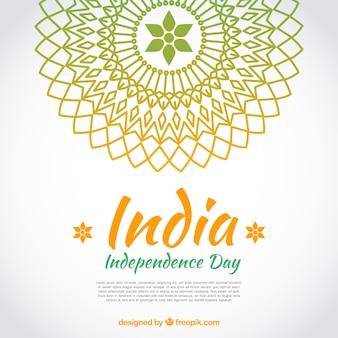 マンダラとインドの独立日の背景