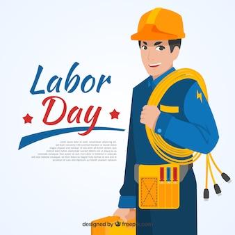 配管工の労働日の背景