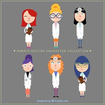 楽しい女性医師のキャラクターコレクション