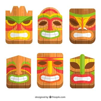 ハワイの部族のマスク