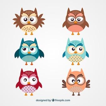 Симпатичные сова мультфильм