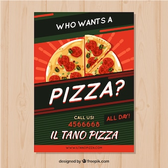 Шаблон брошюры для пиццы