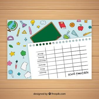Простой шаблон расписания школьного стиля