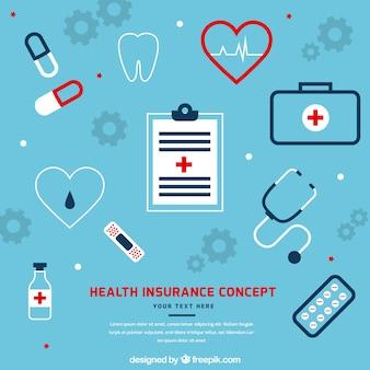 クールな健康保険のコンセプト