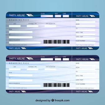 航空チケットのテンプレート