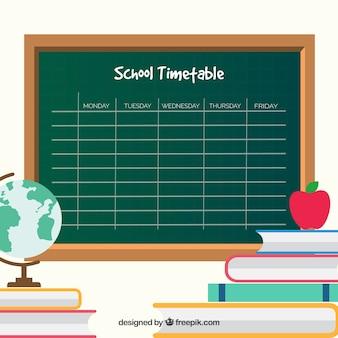 Шаблон школьного расписания в стиле классной доски