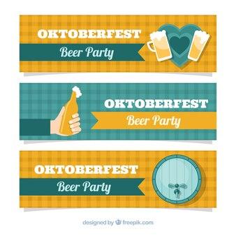 Плоские баннеры октоберфест