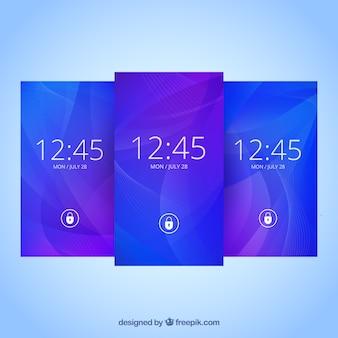 Набор абстрактных синих обоев