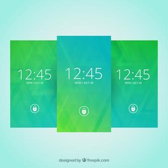 緑のトーンでモバイルの壁紙