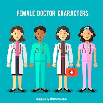 女性医師の様々なキャラクター