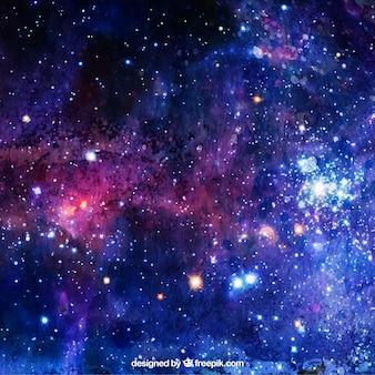 Акварельный фон со звездами