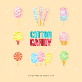 綿のキャンディーのクールな様々