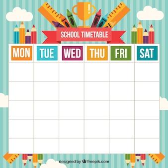 様々な教材を使った幸せな学校の時間割