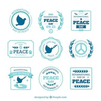 平和の日のための新しいラベルのコレクション
