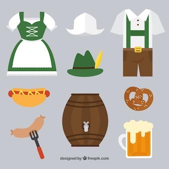 伝統的なドイツのドレスと補足品