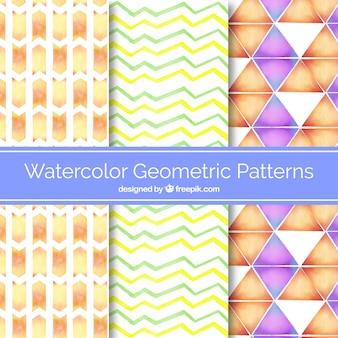 水彩の幾何学模様
