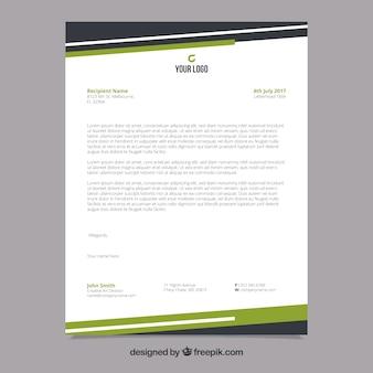 黒と緑のフォームを持つ企業向けパンフレット