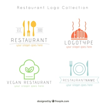 モダンなレストランのロゴ