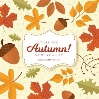 古典的なスタイルの秋の背景
