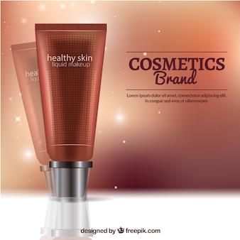 明るい化粧品の背景