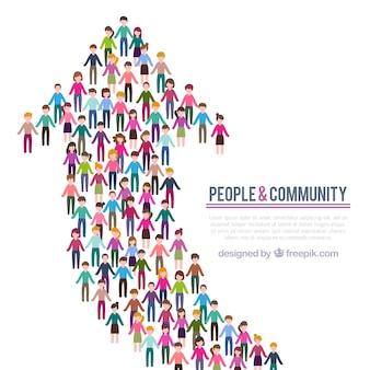人々のコミュニティの背景