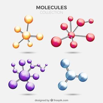 Набор цветных молекул