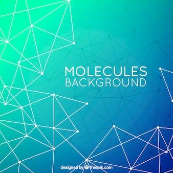 Полигональный фон молекул