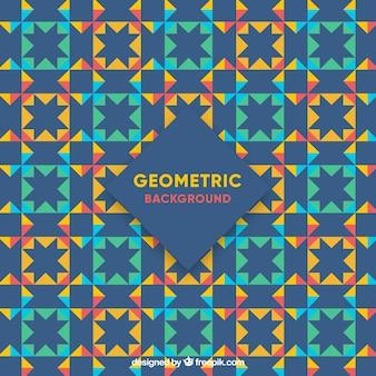 幾何学的なモザイクのヴィンテージの背景