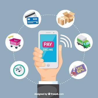 Оплатить онлайн, мобильный телефон