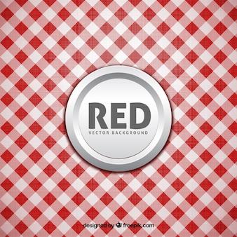 Белый и красный фон скатерти